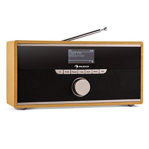 auna Weimar Internetradio WLAN Radio Radiowecker, buche