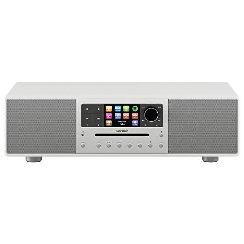 sonoro Meisterstück 2.1 Kompaktanlage (FM/DAB/DAB+/WLAN, CD, AUX-in, aptX Bluetooth, Multiroom, Spotify Connect) Weiß - Digital Internet-Radio