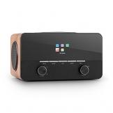 Auna Connect 150 Internetradio, schwarz-braun