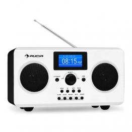 Auna Quarz 150 Design Internetradio, schwarz-weiß