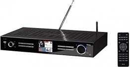 Hama DIT2000 Digital-HiFi-Tuner Internetradio und Digitalradio (WLAN/LAN/DAB+/DAB/FM, 3,2 Zoll Farbdisplay, Fernbedienung, USB-Anschluss, Lade- und Wiedergabefunktion, Wi-Fi-Streaming, Weckfunktionen, gratis Smart Radio App) schwarz - 1