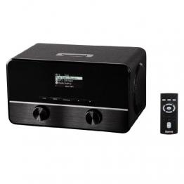 Hama Internet-Radio IR250 (WLAN / LAN mit Fernbedienung, LAN-Buchse, Weck- und WiFi-Streaming-Funktion, Line-Out) schwarz - 1