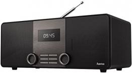 Hama Internetradio Digitalradio DIR3010 (WLAN/LAN/DAB+/DAB/ FM, inkl. Fernbedienung, USB-Anschluss mit Lade- und Wiedergabefunktion, Wifi Streaming, gratis App) schwarz - 1