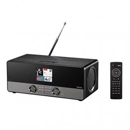 Hama Internetradio Digitalradio DIR3100 (WLAN / LAN / DAB+ / DAB/ FM, Farbdisplay 2,8 Zoll, mit Fernbedienung, USB-Anschluss mit Lade- und Wiedergabefunktion, Weck- und Wifi-Streamingfunktion, gratis Smart Radio App) schwarz - 1