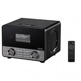 """Hama Internetradio """"IR110"""" (WLAN/LAN, mit Fernbedienung, USB-Anschluss mit Lade- und Wiedergabefunktion, Weckfunktion, gratis Smart Radio App), schwarz - 1"""