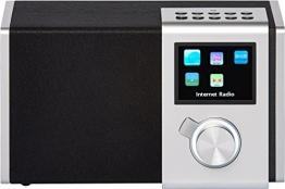 """NOXON 15200 NOVA M Internet-/DAB+ Radio (WLAN,LAN,DAB,DAB+,UKW, 8,13cm (3,2"""") TFT Farb Display, Fernbedienung, USB-,Line-In,Line-Out,Kopfhörer-Anschluss, Weck-Schlummer Funktion, kostenlose App) silber - 1"""