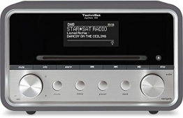 TechniSat DigitRadio 580 - Stereo Digitalradio mit CD-Player, grau
