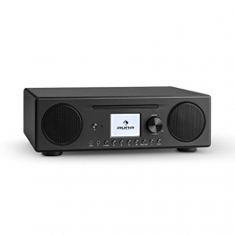 auna Connect CD Internetradio Wlan Radio Mediaplayer (Spotify Connect, DAB/DAB+ Tuner, Bluetooth App Control, UKW-Tuner, MP3-CD Player, USB-Anschluss, AUX-Eingang, Weckfunktion) schwarz -