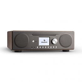 auna Connect CD Internetradio Wlan Radio Mediaplayer (Spotify Connect, DAB/DAB+ Tuner, Bluetooth App Control, UKW-Tuner, MP3-CD Player, USB-Anschluss, AUX-Eingang, Weckfunktion) braun -
