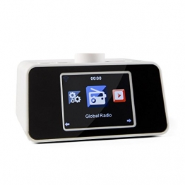 "auna i-snooze Internetradio Radiowecker (WLAN, USB-Port, 3,2"" TFT-Farbdisplay, MP3-fähig, Stereolautsprecher, Dual-Alarm) weiß -"