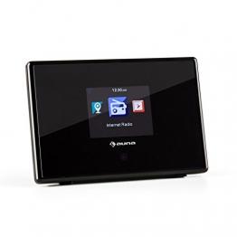 "auna iAdapt 240 Internetradio-Adapter für Stereoanlage (WLAN, UKW-Tuner, Dual-Alarm, 3,5 mm Klinke, 2,4 ""-TFT-Farbdisplay, Line-Out) schwarz -"