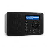 auna IR-130 BK Internetradio WLAN Radio (Soft-Touch-Oberfläche, 8000 Internetradio-Stationen, Breitbandlautsprecher, Fernbedienung) schwarz -