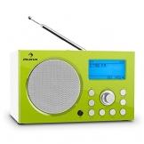 Auna IR-140 Wlan Internet Radio DAB / DAB+ Radio Radiowecker mit 2 Weckzeiten (AUX, USB, UKW-Tuner, RDS, Ladestation, Sleep-Timer, digital) grün-weiß -