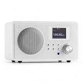 auna IR-150 WH Internetradio WLAN Radio im Retro-Design (Wifi-Musik-Streaming, integrierter UKW-Radiowecker, 250 digitale Speicherplätze) weiß -