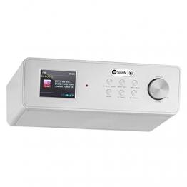 auna KR 200 Küchenradio Internetradio Unterbauradio (WiFi, DAB / DAB+ / UKW-Tuner mit RDS, AUX, Spotify Connect, Dual-Alarm) silber -