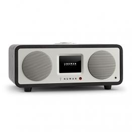 NUMAN One - 2.1 Design Internetradio WLAN Radio mit Spotify Connect (DAB / DAB+ / UKW Tuner, Bluetooth Funktion, Weckfunktion, kabelloses Wifi Musik-Streaming) schwarz -