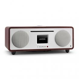 NUMAN Two - 2.1 Design Internetradio Digitalradio (Wi-Fi und LAN-Schnittstelle, CD-Player, DAB/DAB+ Tuner, USB-Port, Bluetooth, Spotify Connect, 30 Watt RMS, Steuerung per App oder Fernbedienung) wenge -