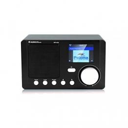 Albrecht DR 422 Internet Radio mit Farbdisplay WLAN , Wetterfunktion , DLNA , APP schwarz -