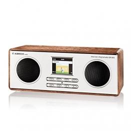 Albrecht DR 883 Digitalradio im Holzdesign mit Internet DAB+ UKW DLNA , Bluetooth , Farbdisplay , App-Funktion , Wecker und Sleeptimer -