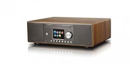 Albrecht DR 890 CD, DAB+/UKW/Internet-Radio/CD, Walnuss, Holzgehäuse, Farbdisplay, DLNA, Bluetooth, USB -