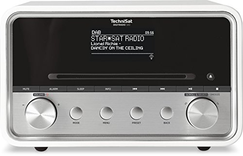 TechniSat DigitRadio 580 - Stereo Digitalradio mit CD-Player, weiß